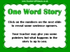 One Word Story Starter Activity (slide 5/9)